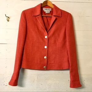 Vintage Carlisle Burnt Orange Blazer Size 4